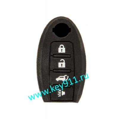 Силиконовый чехол для смарт ключа Ниссан (Nissan) | 4 кнопки