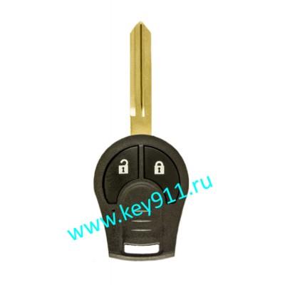 Корпус ключа Ниссан Жук (Nissan Juke) | NSN14 | 2 кнопки