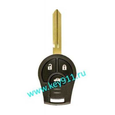 Корпус ключа Ниссан Жук (Nissan Juke) | NSN14 | 3 кнопки
