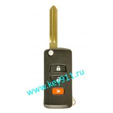 Корпус выкидного ключа Ниссан (Nissan) | NSN14 | 2 кнопки + паника