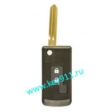 Корпус выкидного ключа Ниссан (Nissan) | NSN14 | 2 кнопки