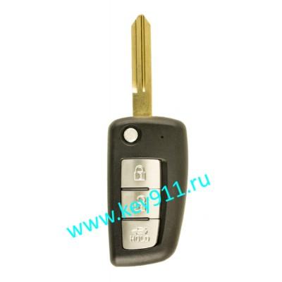 Корпус выкидного ключа Ниссан (Nissan) | NSN14 | 3 кнопки