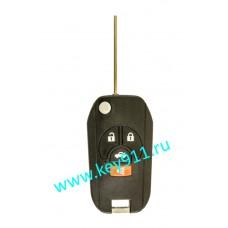Корпус выкидного ключа Ниссан (Nissan) | NSN14 | 3 кнопки + паника