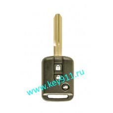 Корпус ключа Ниссан (Nissan)   NSN14   3 кнопки
