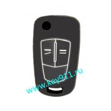 Силиконовый чехол для выкидного ключа Опель (Opel) | 2 кнопки