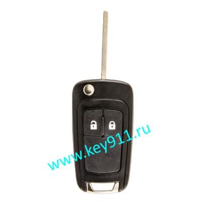 Корпус выкидного ключа Шевроле (Chevrolet) | HU100 | 2 кнопки