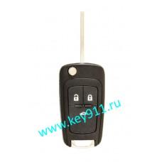 Выкидной ключ для Опель Инсигния, Астра-J, Мокка, Зафира-C, Каскада (Opel Insignia, Astra-J, Mokka, Zafira-C, Cascada) | HU100 | PCF7937 | 433MHz Европа | 3 кнопки