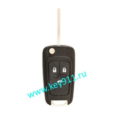 Корпус выкидного ключа Опель (Opel) | HU100 | 3 кнопки