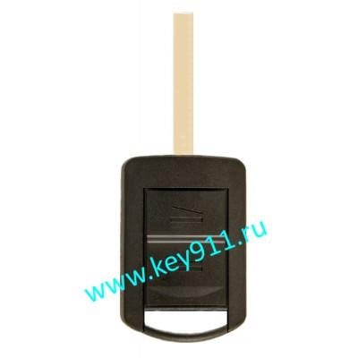 Корпус ключа Опель (Opel) | HU100 | 2 кнопки