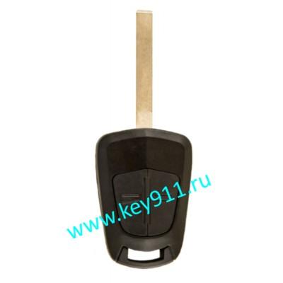 Корпус ключа Опель (Opel)   HU100   2 кнопки