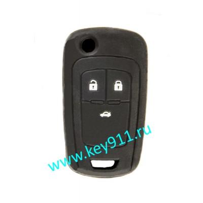 Силиконовый чехол для выкидного ключа Опель (Opel)   3 кнопки