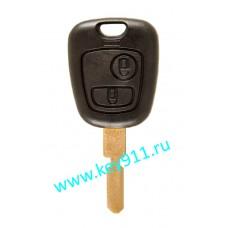 Корпус ключа Пежо (Peugeot) | NE78 | 2 кнопки
