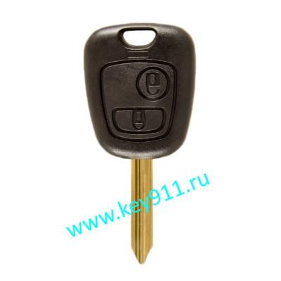 Корпус ключа Пежо (Peugeot)   SX9   2 кнопки