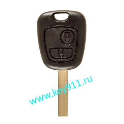 Корпус ключа Пежо (Peugeot)   HU83   2 кнопки