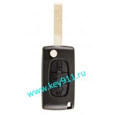 Корпус выкидного ключа Пежо (Peugeot) | HU83 | 3 кнопки