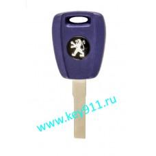 Заготовка ключа Пежо (Peugeot) | SIP22 | под чип