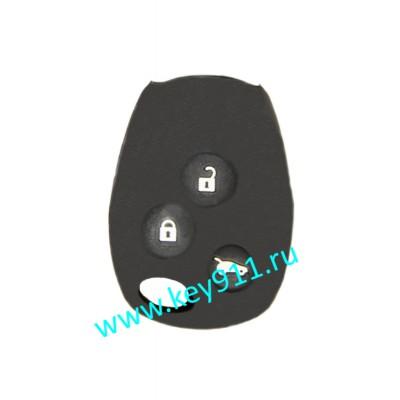 Силиконовый чехол для ключа Рено (Renault) | 3 кнопки