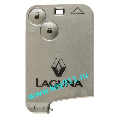Корпус смарт карты Рено Лагуна II (Renault Laguna II)   2 кнопки