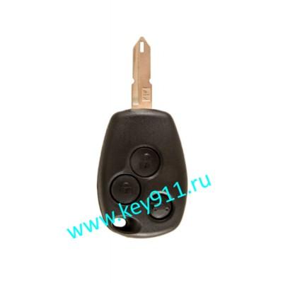 Корпус ключа Рено (Renault) NE73 | 3 кнопки