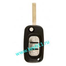 Корпус выкидного ключа Рено (Renault) VA2 | 3 кнопки