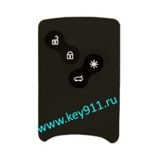 Силиконовый чехол для смарт карты Рено (Renault)   4 кнопки