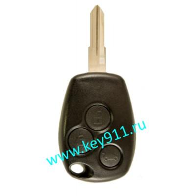 Корпус ключа Рено (Renault) VAC102 | 3 кнопки