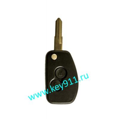 Корпус выкидного ключа Рено (Renault) | VAC102 | 2 кнопки