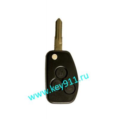 Корпус выкидного ключа Рено (Renault) | VAC102 | 3 кнопки