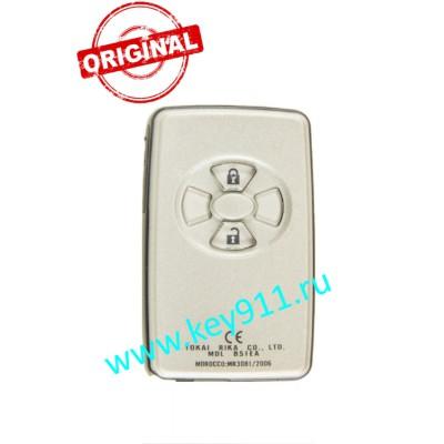 Смарт ключ для Тойота Рав4, Урбан Крузер (Toyota Rav4, Urban Cruiser ) | 2 кнопки | MDL B51EA | Page1 = 98 | 433MHz Европа