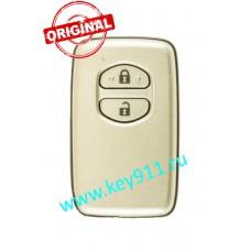 Смарт ключ Тойота Ленд Крузер 200 (Toyota Land Cruiser 200)   2 кнопки   MDL B53EA   Page1 = 98   433MHz Европа