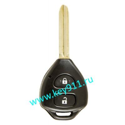 Ключ для Тойота Рав4, Аурис. Хайайс, Королла Сед, Превиа (Toyota Rav4, Auris, Hiace, Corolla SED/WG, Previa) | TOY43 | 4D67G | 433MHz Европа | 2 кнопки