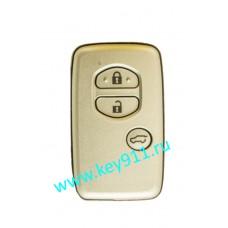 Смарт ключ для Тойота Ленд Крузер Прадо (Toyota Land Cruiser Prado)   3 кнопки   MDL B74EA  Page1 = 98   433MHz Европа