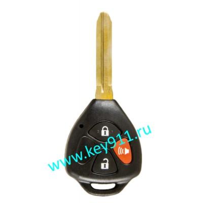 Корпус ключа Тойота (Toyota) | TOY43 | 2 кнопки + паника
