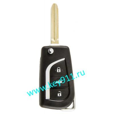 Выкидной ключ для Тойота (Toyota) | TOY43 | 4D68 | 433MHz Европа | 3 кнопки