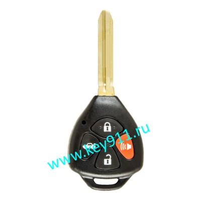 Корпус ключа Тойота (Toyota) | TOY43 | 3 кнопки + паника