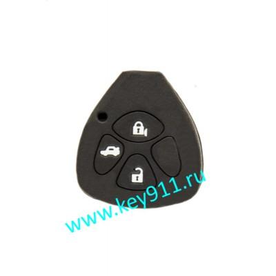 Силиконовый чехол для ключа Тойота (Toyota) | 3 кнопки