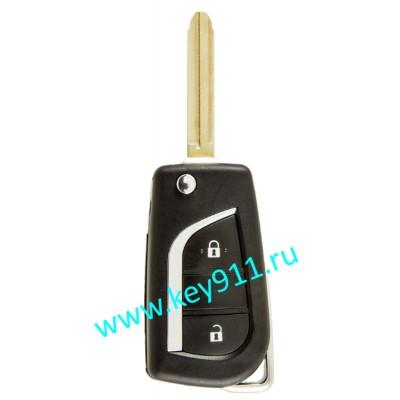 Выкидной ключ для Тойота (Toyota) | TOY43 | 4D68 | 315MHz Америка | 2 кнопки
