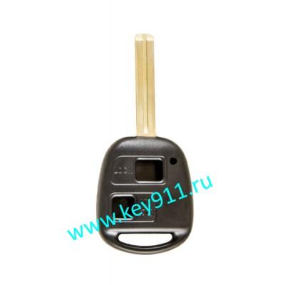 Корпус ключа Тойота (Toyota) | TOY48 | 2 кнопки | 46мм