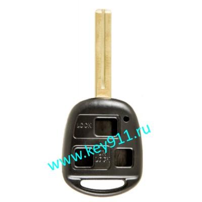Корпус ключа Тойота (Toyota) | TOY48 | 3 кнопки | 40мм