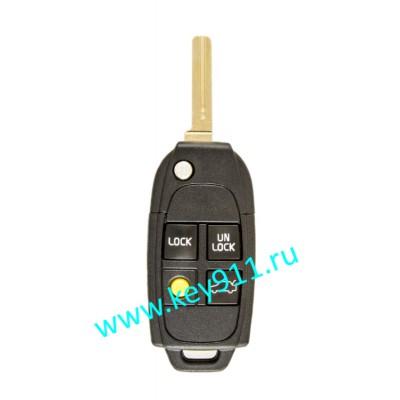 Корпус выкидного ключа Вольво (Volvo) | NE66 | 4 кнопки