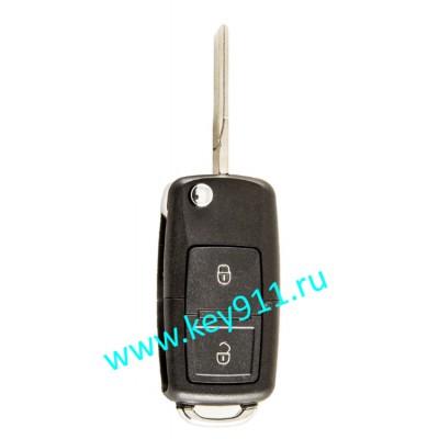 Выкидной ключ для Шкода Октавия (Skoda Octavia) 1J0959753CT/AG | HU66 | ID 48 | 433MHz Европа | 2 кнопки
