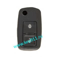 Силиконовый чехол для выкидного ключа Фольксваген (Volkswagen) | 2 кнопки