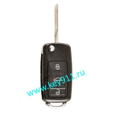 Выкидной ключ для Фольксваген (Volkswagen) 1K0959753N | HU66 | ID 48 | 433MHz Европа | 3 кнопки