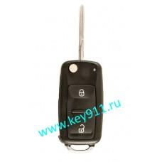 Корпус выкидного ключа Фольксваген (Volkswagen) | HU66 | 2 кнопки |нового образца