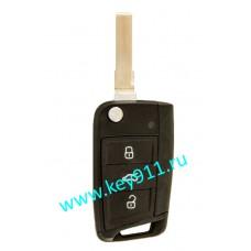 Корпус выкидного ключа Фольксваген (Volkswagen) | HU66 | 3 кнопки