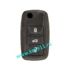 Силиконовый чехол для выкидного ключа Фольксваген (Volkswagen) | 3 кнопки